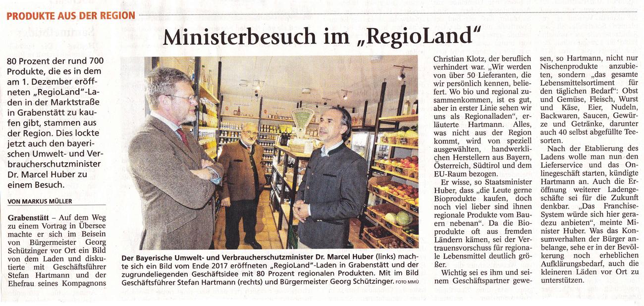 RegioLand-Staatsminister-Huber